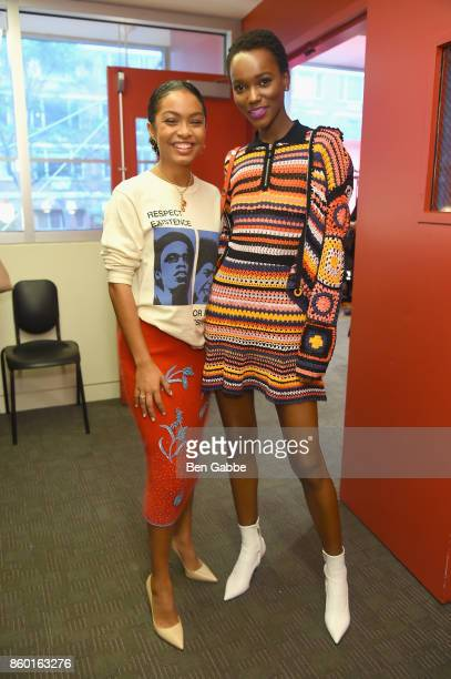 Actress Yara Shadidi and model Herieth Paul attend Glamour's The Girl Project on the International Day of the Girl on October 11 2017 in New York City