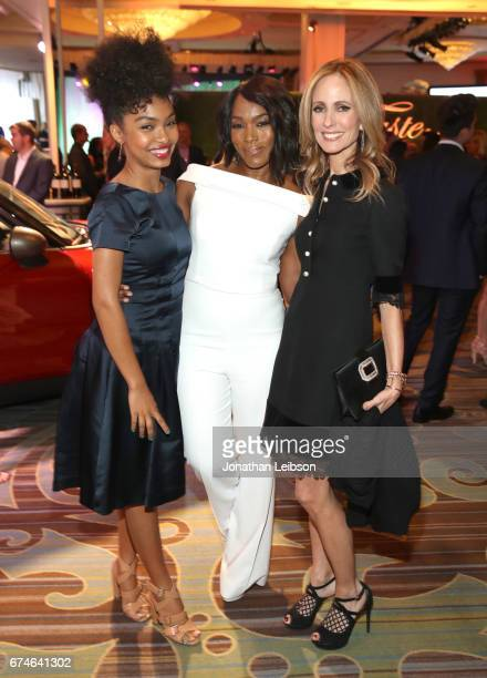 Actress Yara Shahidi actress Angela Bassett and Vice Chair Dana Walden attend the UCLA Jonsson Cancer Center Foundation Hosts 22nd Annual Taste for a...