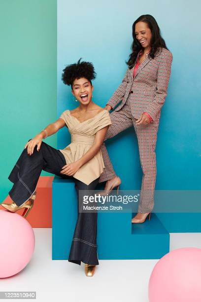 Actress Yara Shahidi and costume designer Michelle Cole are photographed for Entertainment Weekly Magazine on February 27, 2020 at Savannah College...