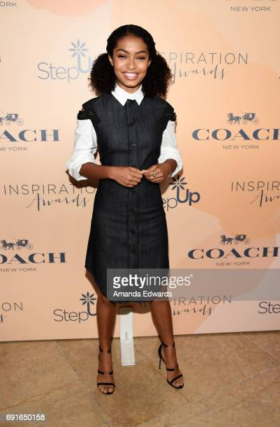 Actress Yara Shahidi arrives at the 14th Annual Inspiration Awards at The Beverly Hilton Hotel on June 2 2017 in Beverly Hills California