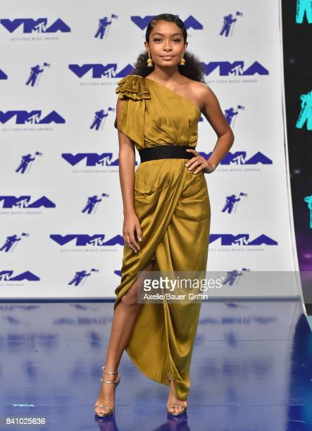 Actress Yara Shahidi arrives at the 2017 MTV Video Music Awards at The Forum on August 27 2017 in Inglewood California