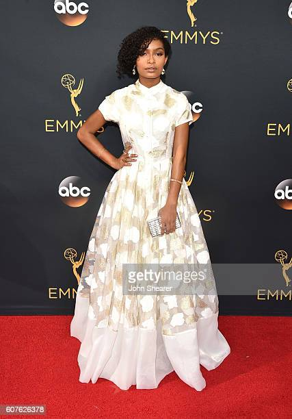Actress Yara Shahidi arrives at the 68th Annual Primetime Emmy Awards at Microsoft Theater on September 18 2016 in Los Angeles California
