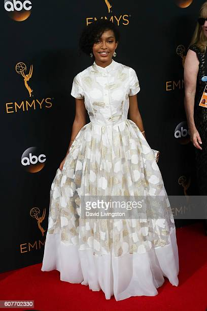 Actress Yara Shahidi arrives at the 68th Annual Primetime Emmy Awards at the Microsoft Theater on September 18 2016 in Los Angeles California