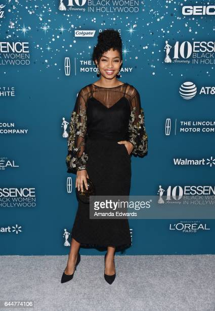 Actress Yara Shahidi arrives at the Essence 10th Annual Black Women in Hollywood Awards Gala at the Beverly Wilshire Four Seasons Hotel on February...