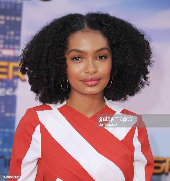 Actress Yara Shahidi arrives at the Los Angeles Premiere 'SpiderMan Homecoming' at TCL Chinese Theatre on June 28 2017 in Hollywood California