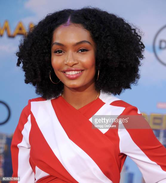 Actress Yara Shahidi arrives at the premiere of Columbia Pictures' 'SpiderMan Homecoming' at TCL Chinese Theatre on June 28 2017 in Hollywood...