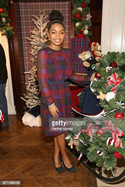 Actress Yara Shahidi attends Brooks Brothers holiday celebration with St Jude Children's Research Hospital on December 3 2016 in Beverly Hills...