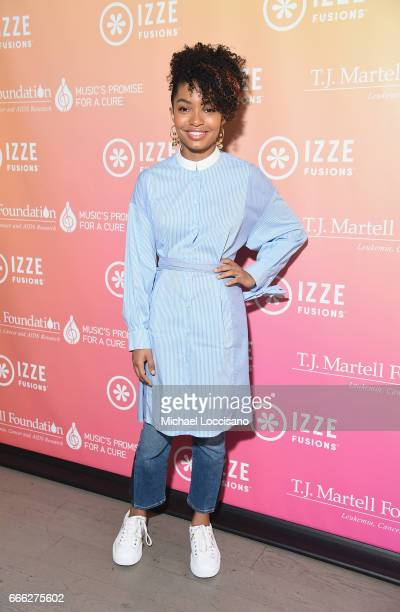 Actress Yara Shahidi attends Camp IZZE to celebrate the launch of IZZE FUSIONS on April 8 2017 in Brooklyn New York