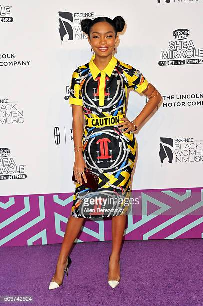 Actress Yara Shahidi attends ESSENCE 7th Annual Black Women In Music at Avalon Hollywood on February 11 2016 in Los Angeles California