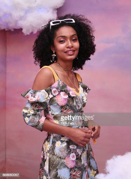 Actress Yara Shahidi attends HM Loves Coachella Tent during day 1 of the Coachella Valley Music Arts Festival at the Empire Polo Club on April 14...