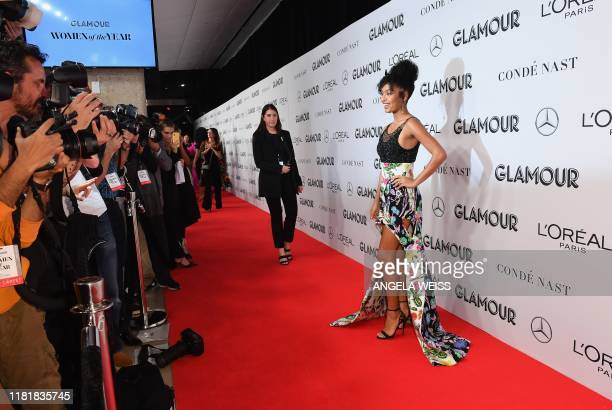 US actress Yara Shahidi attends the 2019 Glamour Women Of The Year Awards at Alice Tully Hall Lincoln Center on November 11 2019 in New York City