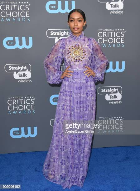 Actress Yara Shahidi attends the 23rd Annual Critics' Choice Awards at Barker Hangar on January 11 2018 in Santa Monica California
