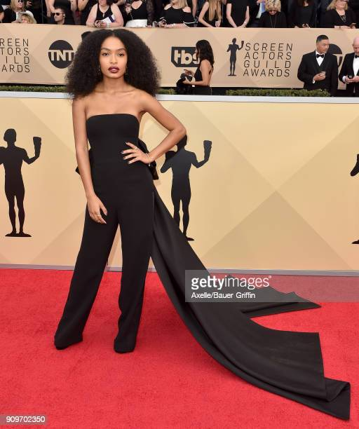Actress Yara Shahidi attends the 24th Annual Screen Actors Guild Awards at The Shrine Auditorium on January 21 2018 in Los Angeles California