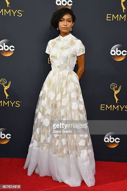 Actress Yara Shahidi attends the 68th Annual Primetime Emmy Awards at Microsoft Theater on September 18 2016 in Los Angeles California