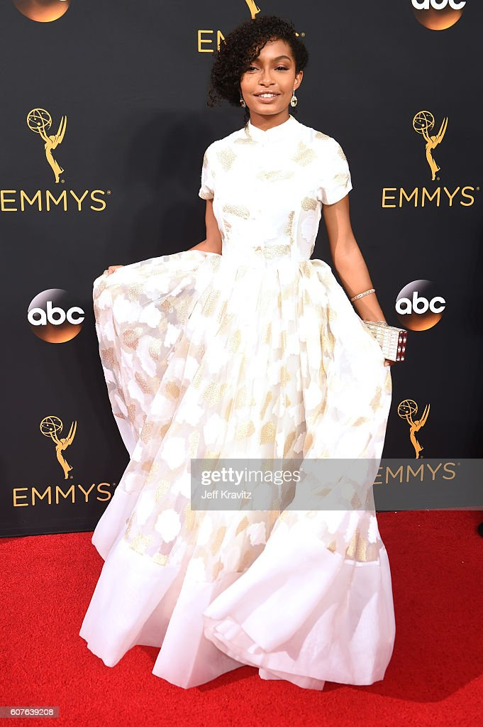 Actress Yara Shahidi attends the 68th Annual Primetime Emmy Awards at Microsoft Theater on September 18, 2016 in Los Angeles, California.