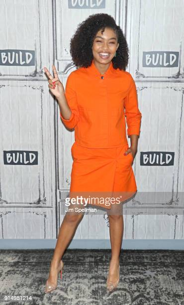 Actress Yara Shahidi attends the Build Series to discuss Grownish at Build Studio on February 6 2018 in New York City