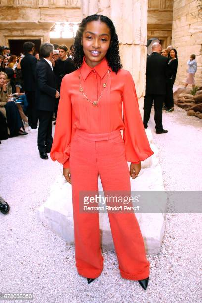 Actress Yara Shahidi attends the Chanel Cruise 2017/2018 Collection Show at Grand Palais on May 3 2017 in Paris France