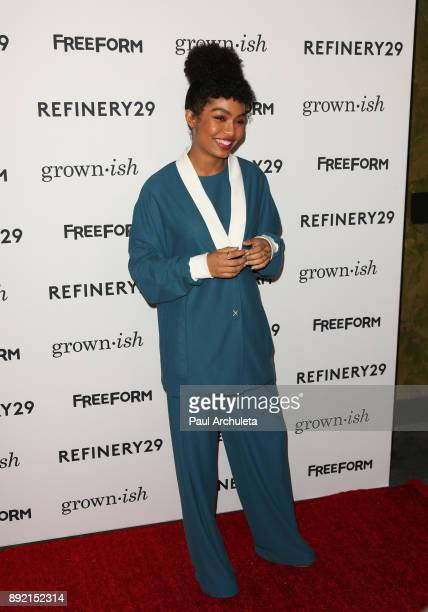 Actress Yara Shahidi attends the premiere of ABC's 'Grownish' on December 13 2017 in Hollywood California