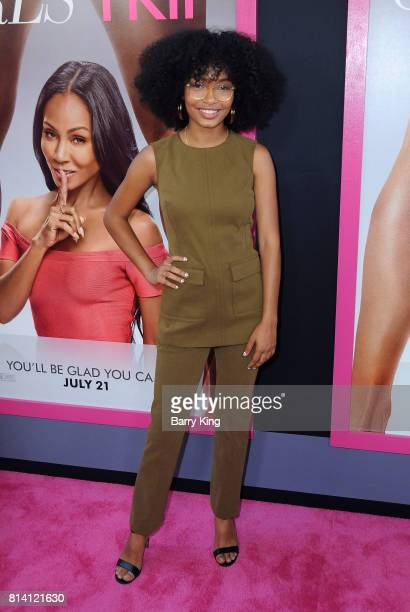 Actress Yara Shahidi attends the Premiere of Universal Pictures' 'Girls Trip' at Regal LA Live Stadium 14 on July 13 2017 in Los Angeles California