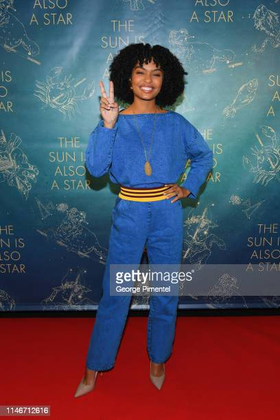 Actress Yara Shahidi attends the ultimate 'Promposal' at a Toronto screening of 'The Sun Is Also a Star' at Cineplex Cinemas Yonge-Dundas and VIP on...