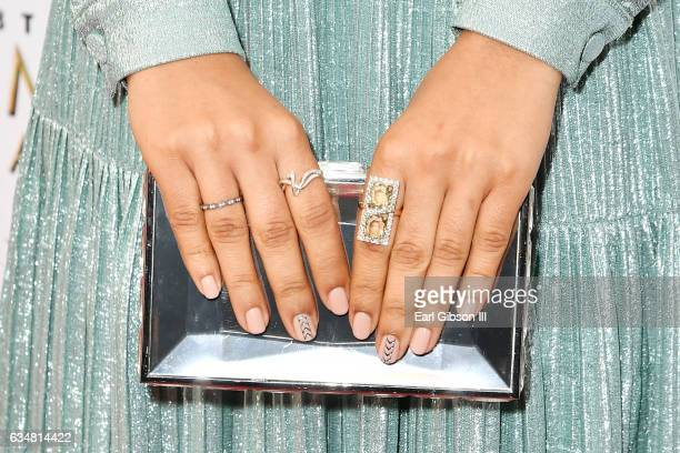 Actress Yara Shahidi clutch detail attends the 48th NAACP Image Awards at Pasadena Civic Auditorium on February 11 2017 in Pasadena California
