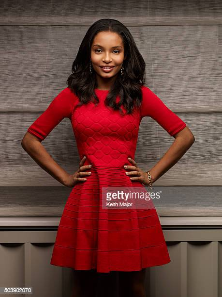 Actress Yara Shahidi is photographed for a spec shoot on November 3, 2015 in New York City.