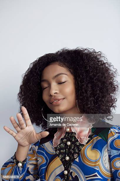 Actress Yara Shahidi is photographed for Teen Vogue Magazine on June 16 2016 in Los Angeles California