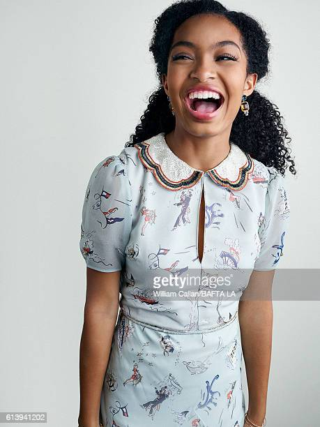 Actress Yara Shahidi poses for a portrait BBC America BAFTA Los Angeles TV Tea Party 2016 at the The London Hotel on September 17 2016 in West...