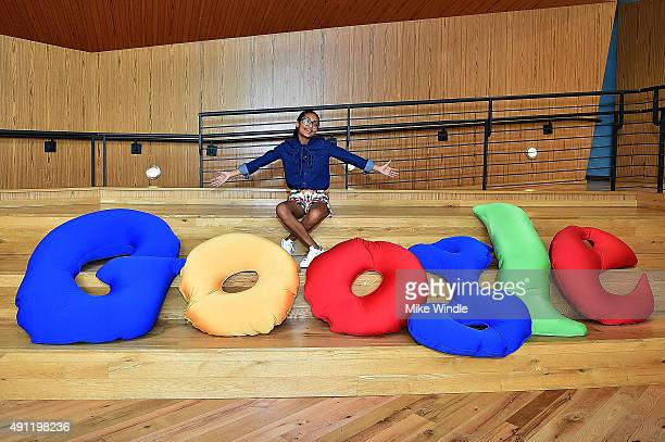 Actress Yara Shahidi speaks onstage during The Paley Center For Media Google present 'Cracking the Code Diversity Hollywood STEM' at Google...