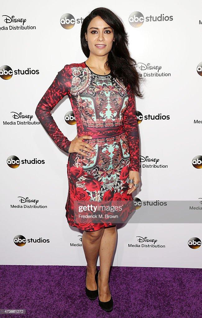 Actress Yasmine Al Massri attends Disney Media Disribution International Upfronts at Walt Disney Studios on May 17, 2015 in Burbank, California.