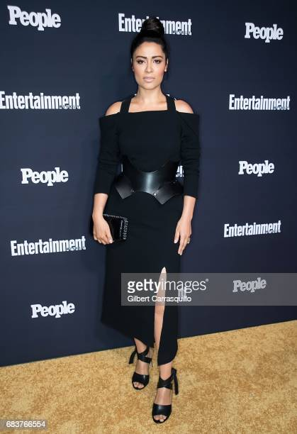 Actress Yasmine Al Massri attends Entertainment Weekly People New York Upfronts at 849 6th Ave on May 15 2017 in New York City