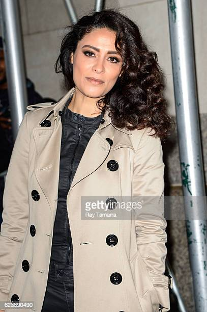 Actress Yasmine Al Massri leaves the AOL Studios on November 17 2016 in New York City