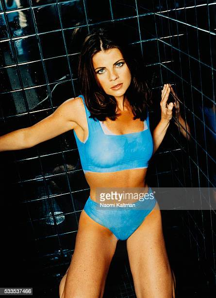 Actress Yasmine Bleeth is photographed for Maxim Magazine UK in 1999 in Los Angeles, California