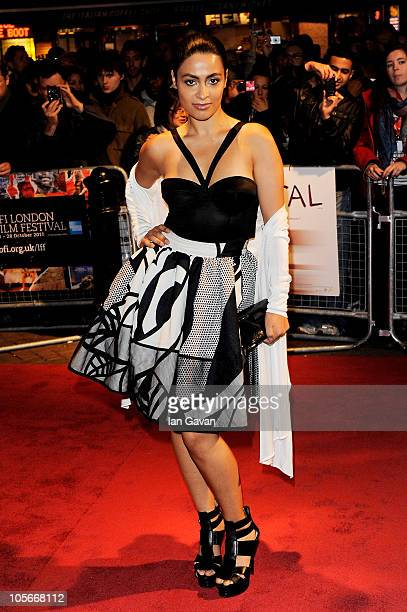 Actress Yasmine Elmasri attends the Miral premiere during the 54th BFI London Film Festival at the Vue West End on October 18 2010 in London England