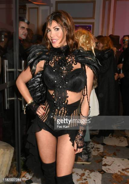 Actress Yasmine Lafitte attends the Bal Masque de Monsieur D At Pavillon d'Armenonville on October 18 2019 in Paris France