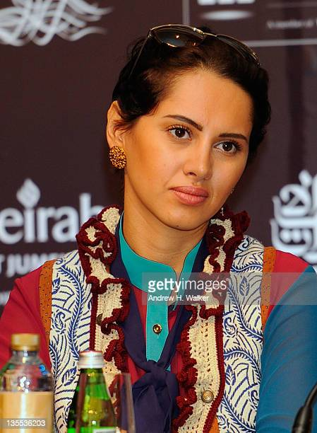 Actress Yasmine Raees attends the A Whole One press conference during day six of the 8th Annual Dubai International Film Festival held at the Madinat...