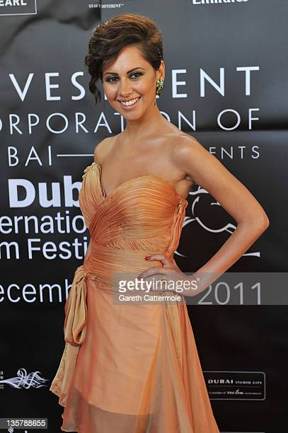 Actress Yasmine Raees attends the Awards Ceremony during day eight of the 8th Annual Dubai International Film Festival held at the Jumeirah Zabeel...