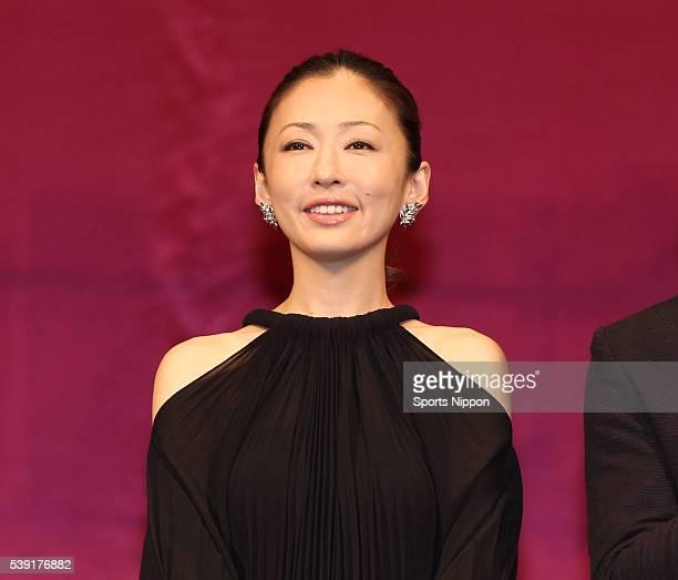 Actress Yasuko Matsuyuki attends preview screening of the 'Hotaru no Hikari' on May 14 2012 in Tokyo Japan
