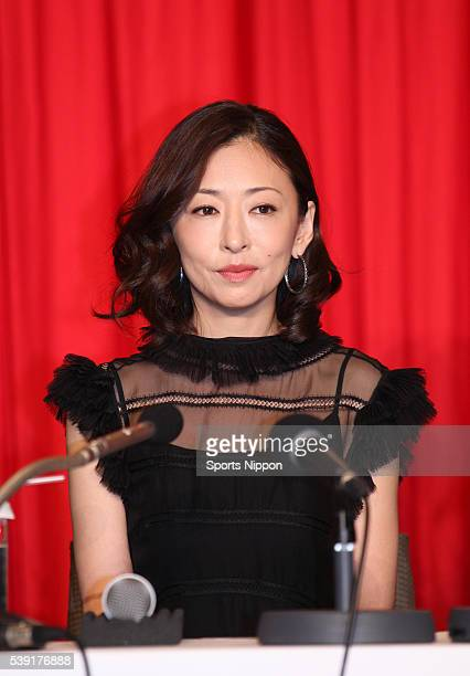 Actress Yasuko Matsuyuki attends the 'Apology King' press conference on August 12 2013 in Tokyo Japan