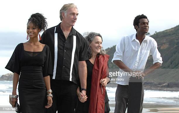 Actress Yaya DaCosta attends, director John Sayles, producer Maggie Renzi and actor Gary Clark Jr. Attend a photocall for Honeydripper at the Kursaal...