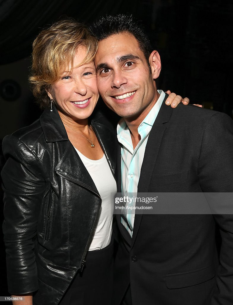Actress Yeardley Smith (L) and Eric Podwall attend Matthew Morrison's performance at The Sayers Club on June 12, 2013 in Hollywood, California.