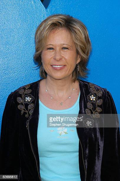 Actress Yeardley Smith the voice of Lisa Simpson attends The Simpsons 350th episode block party on the New York street of Fox Pico Lot on April 25...