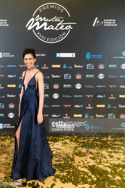 Actress Yelena Molina attends the Mestre Mateo Awards in A Coruna on March 07 2020 in A Coruna Spain