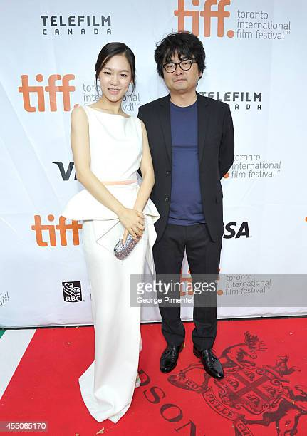 Actress Yeri Han and director/screenwriter Sung Bo Shim attend the Haemoo premiere during the 2014 Toronto International Film Festival at Roy Thomson...