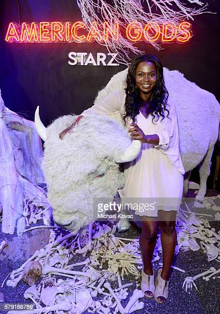 Actress Yetide Badaki attends the American Gods autograph signing during ComicCon International at San Diego Convention Center on July 22 2016 in San...
