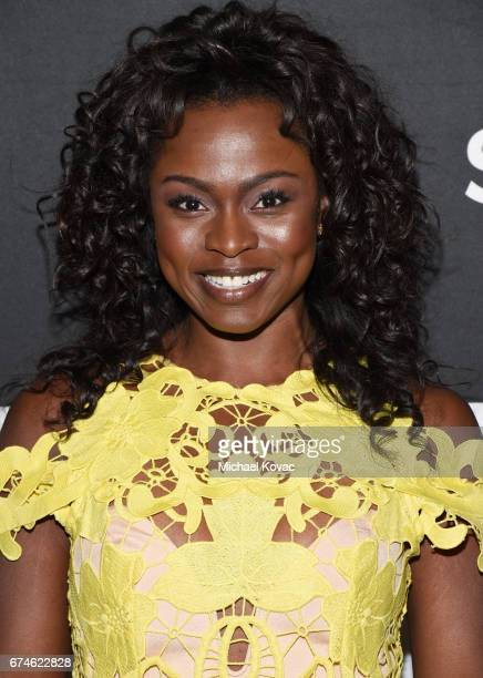 Actress Yetide Badaki attends the American Gods FYC event at Saban Media Center on April 28 2017 in North Hollywood California