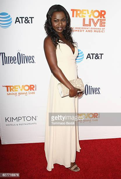 Actress Yetide Badaki attends The Trevor Project's 2016 TrevorLIVE LA at The Beverly Hilton Hotel on December 4 2016 in Beverly Hills California
