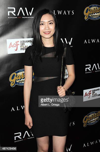 Actress Yibing Chen arrives for the Premiere Of Random Art Workshop's 'Always' held at ArcLight Cinemas on August 27 2015 in Hollywood California