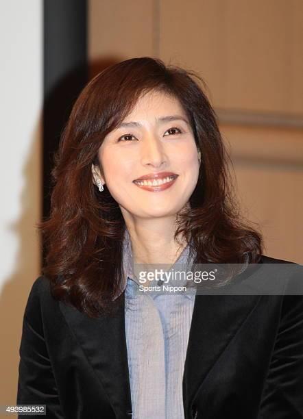 Actress Yūki Amami attends Fuji TV program press conference on October 4 2012 in Tokyo Japan