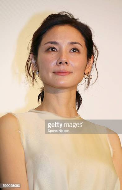 Actress Yo Yoshida attends opening day stage greeting of the 'Iyana Onna' on June 25 2016 in Tokyo Japan